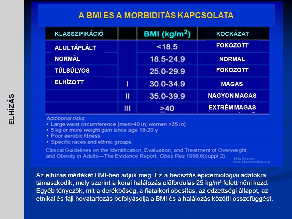 A BMI ÉS A MORBIDITÁS KAPCSOLATA