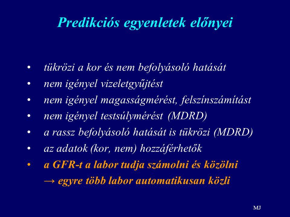 Predikciós egyenletek előnyei