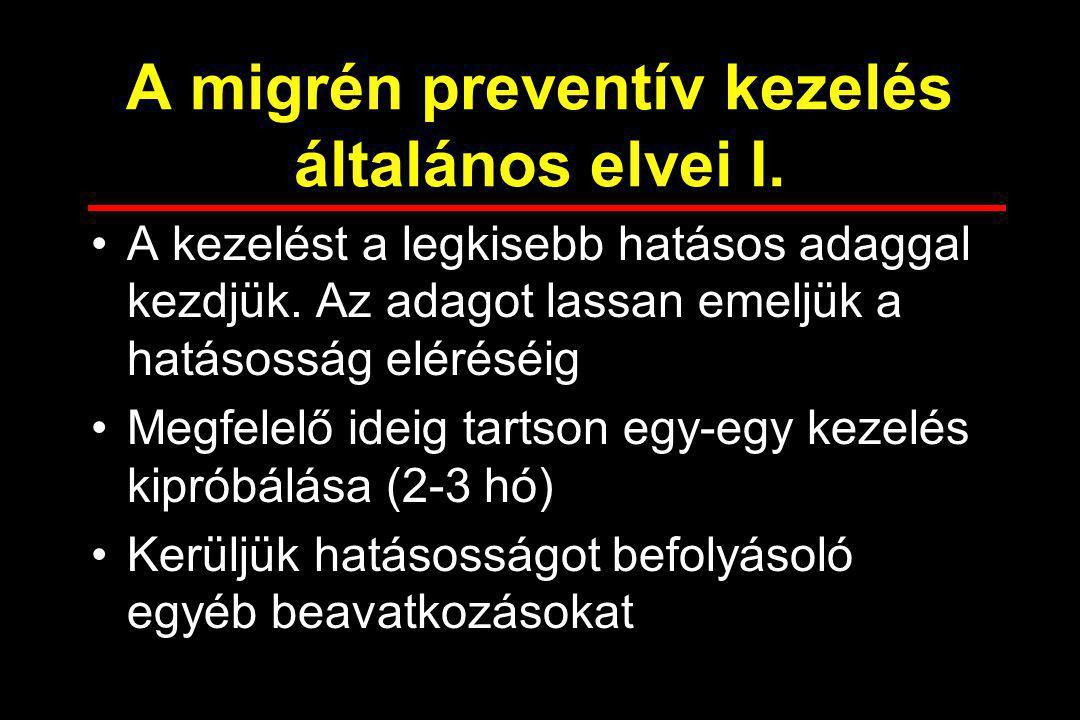 A migrén preventív kezelés általános elvei I.