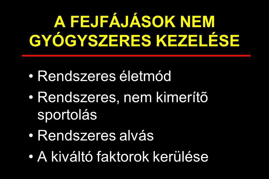 A FEJFÁJÁSOK NEM GYÓGYSZERES KEZELÉSE