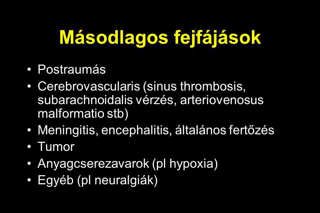 Másodlagos fejfájások