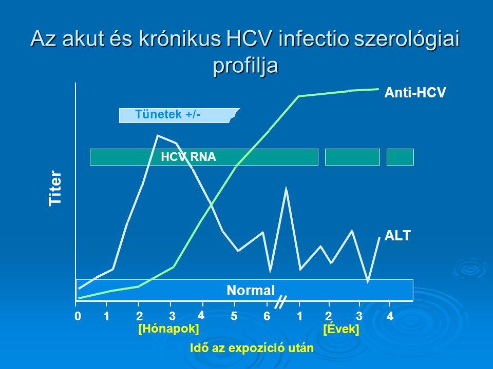 Az akut és krónikus HCV infectio szerológiai profilja