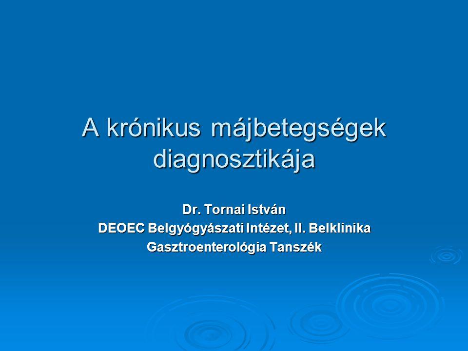 A krónikus májbetegségek diagnosztikája