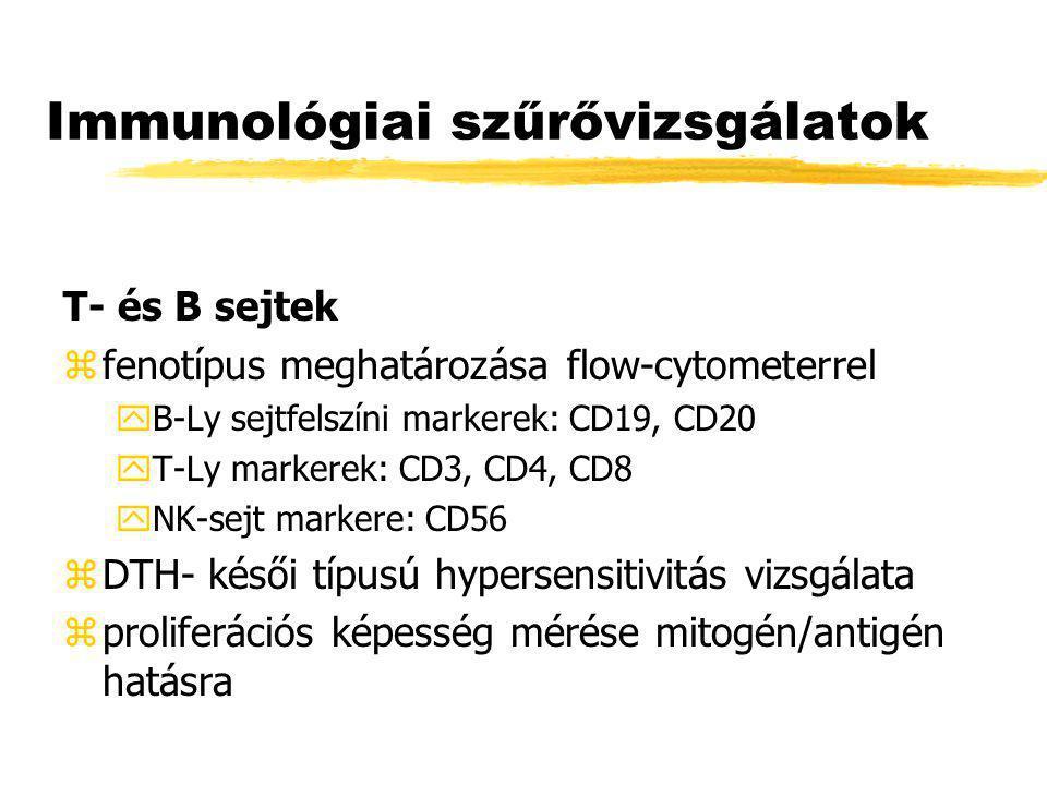 Immunológiai szűrővizsgálatok
