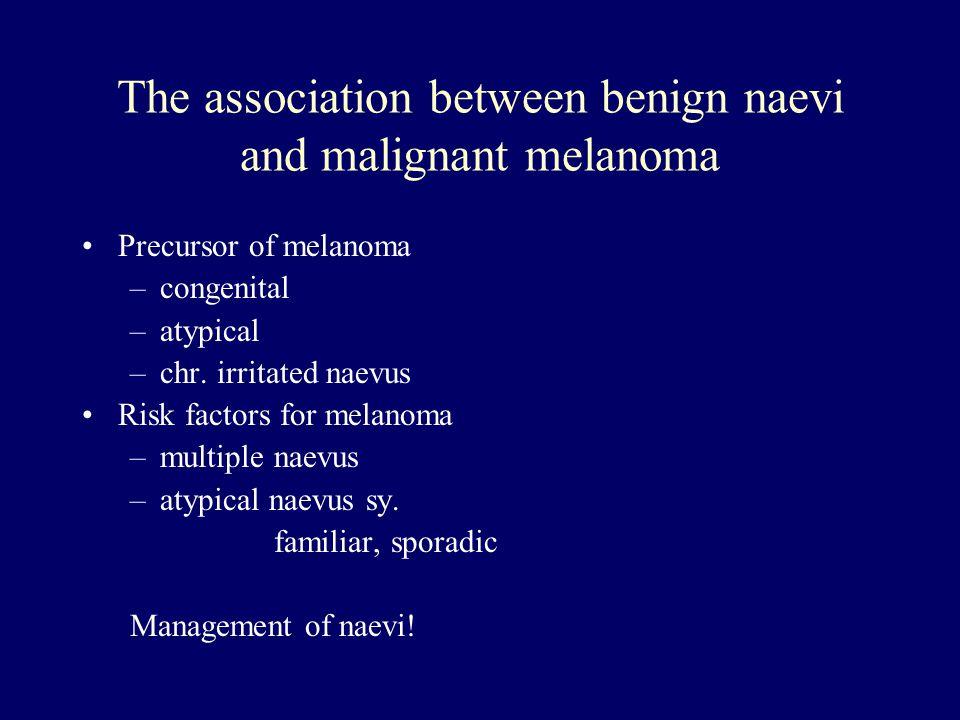 The association between benign naevi and malignant melanoma