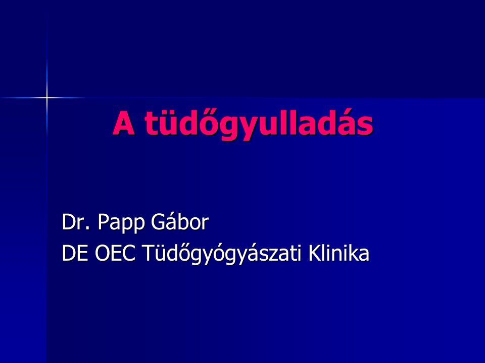 Dr. Papp Gábor DE OEC Tüdőgyógyászati Klinika