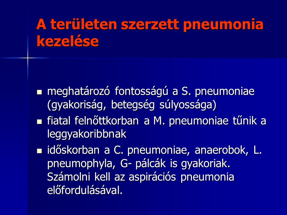 A területen szerzett pneumonia kezelése