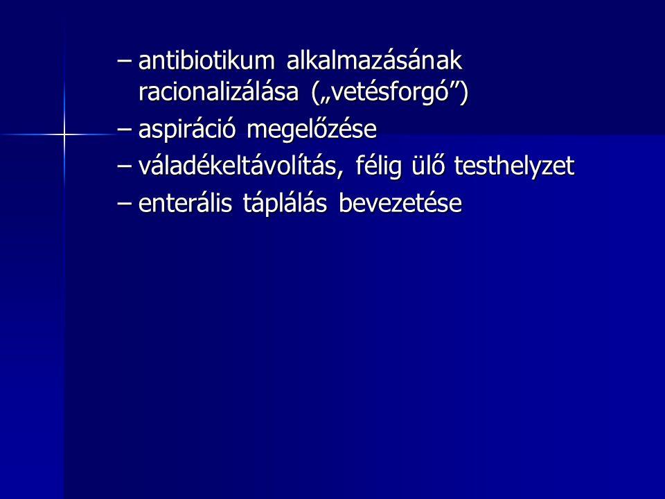 """antibiotikum alkalmazásának racionalizálása (""""vetésforgó )"""