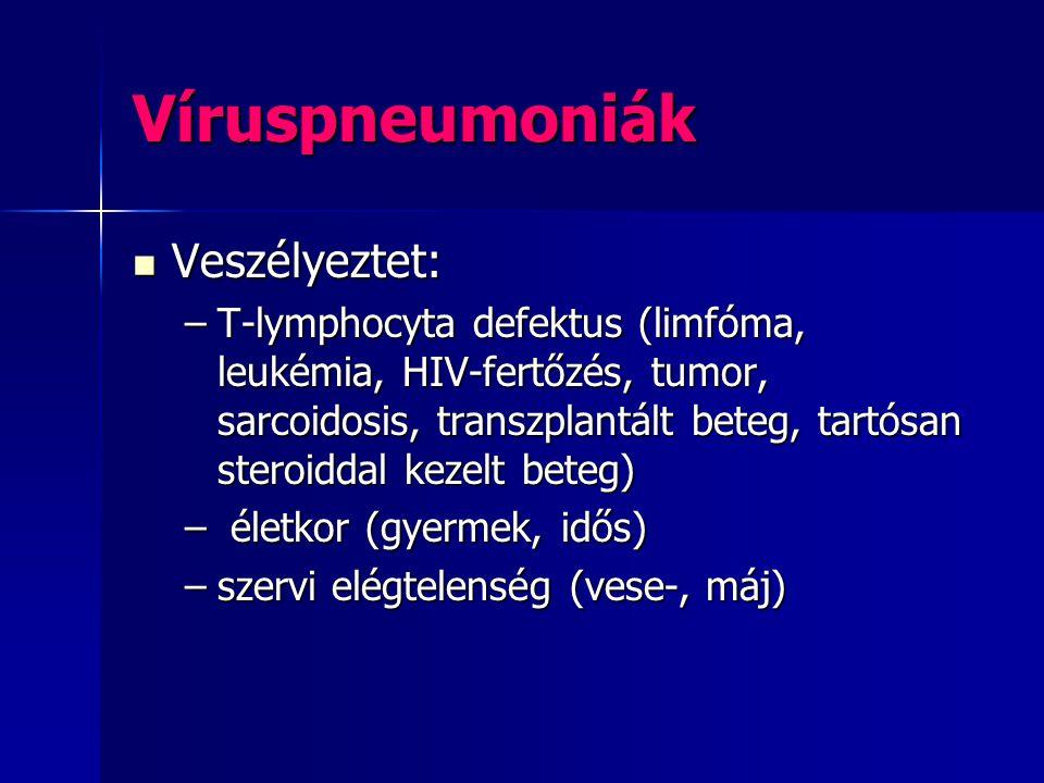 Víruspneumoniák Veszélyeztet: