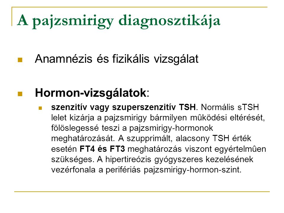 A pajzsmirigy diagnosztikája