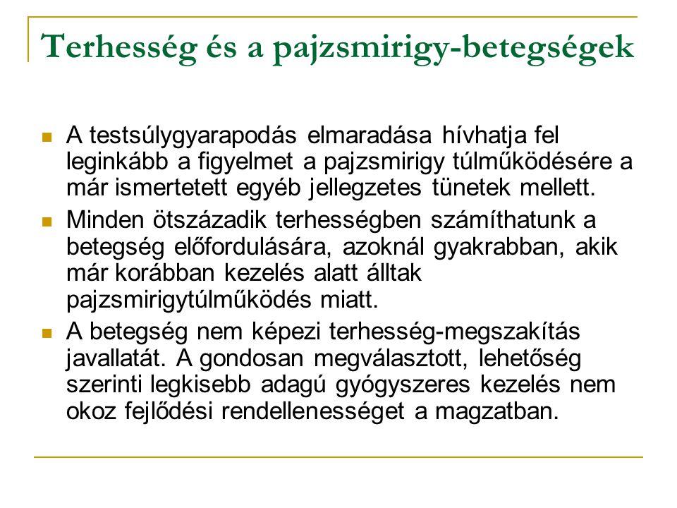 Terhesség és a pajzsmirigy-betegségek