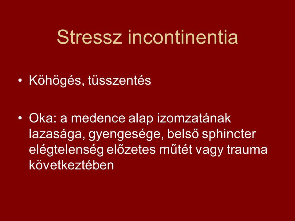 Stressz incontinentia