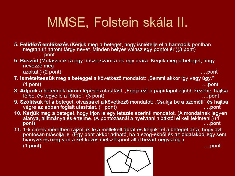 MMSE, Folstein skála II.