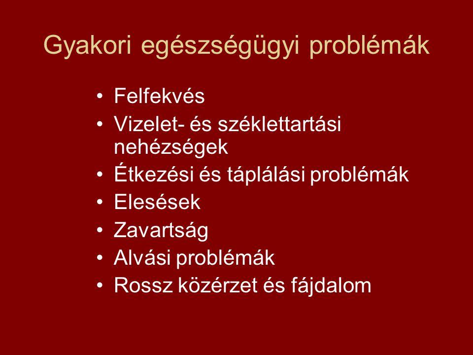 Gyakori egészségügyi problémák
