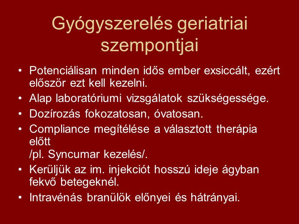 Gyógyszerelés geriatriai szempontjai
