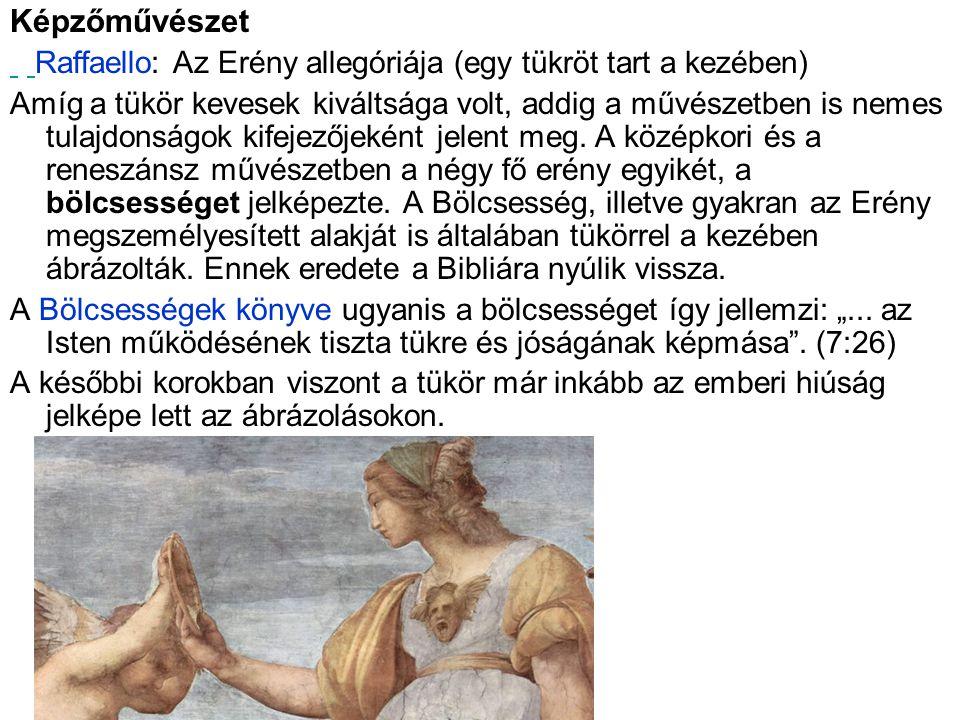 Képzőművészet Raffaello: Az Erény allegóriája (egy tükröt tart a kezében)
