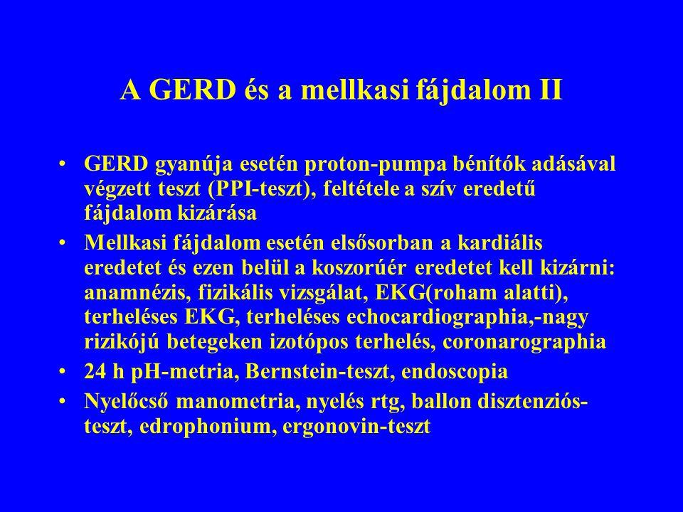 A GERD és a mellkasi fájdalom II
