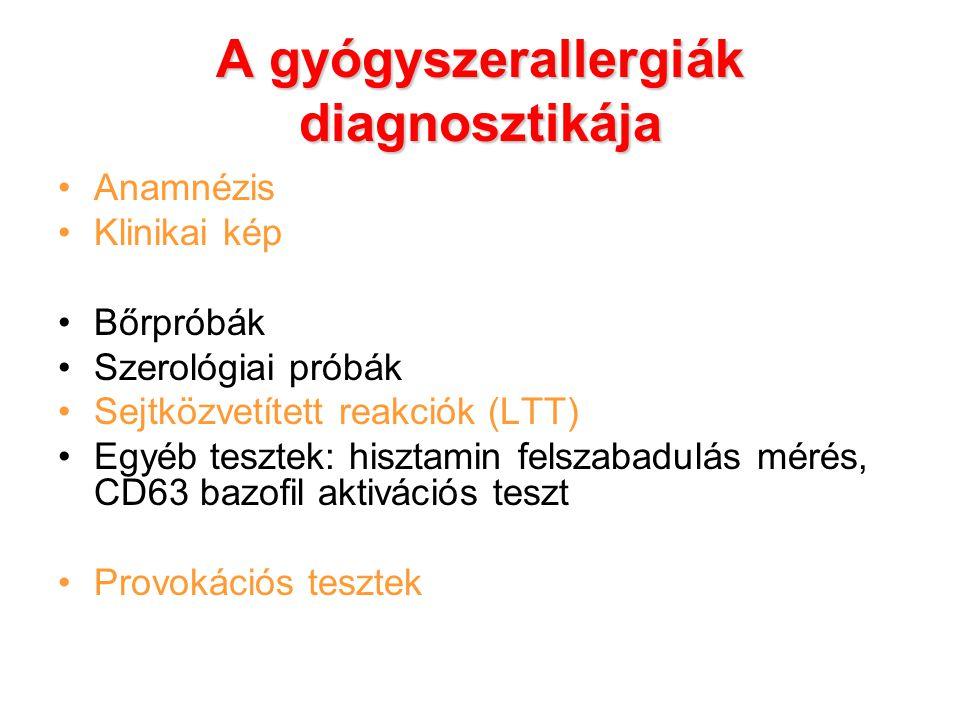 A gyógyszerallergiák diagnosztikája