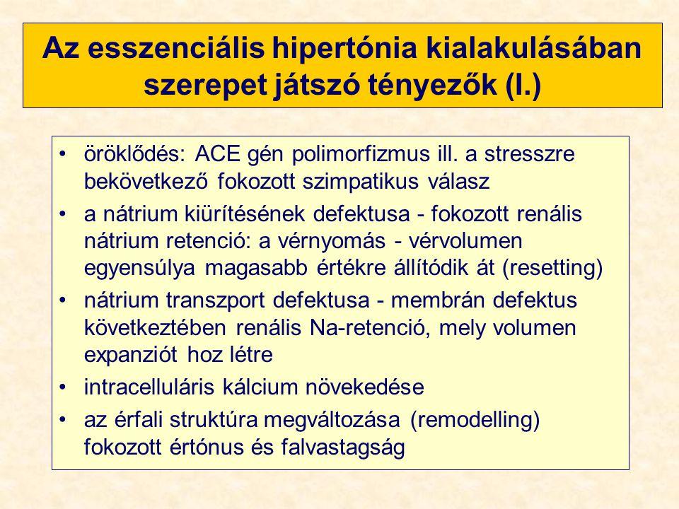 Az esszenciális hipertónia kialakulásában szerepet játszó tényezők (I