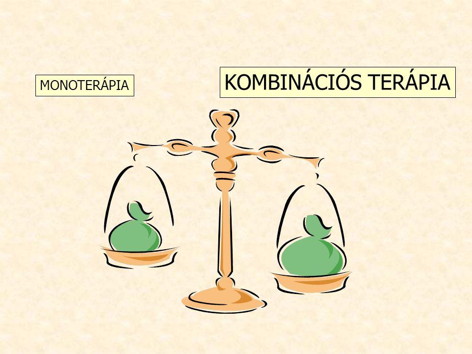 KOMBINÁCIÓS TERÁPIA MONOTERÁPIA