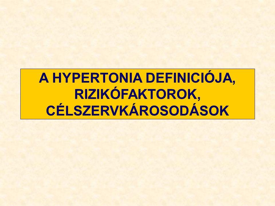 A HYPERTONIA DEFINICIÓJA, RIZIKÓFAKTOROK, CÉLSZERVKÁROSODÁSOK