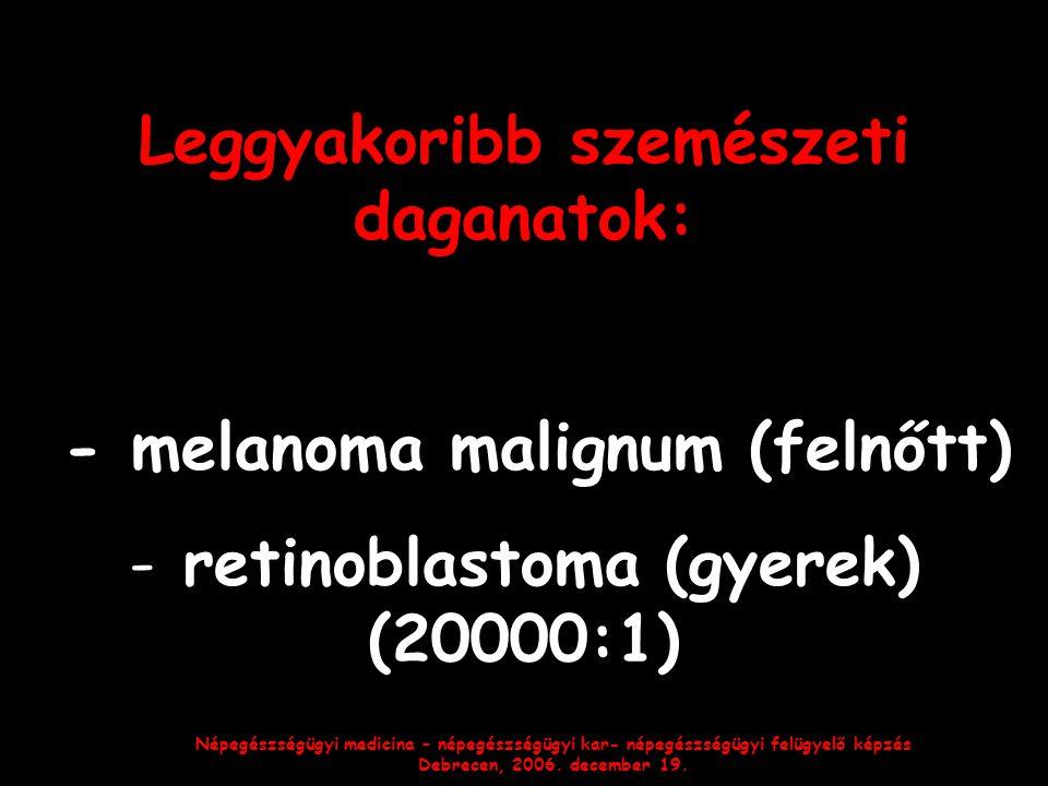 Leggyakoribb szemészeti daganatok: