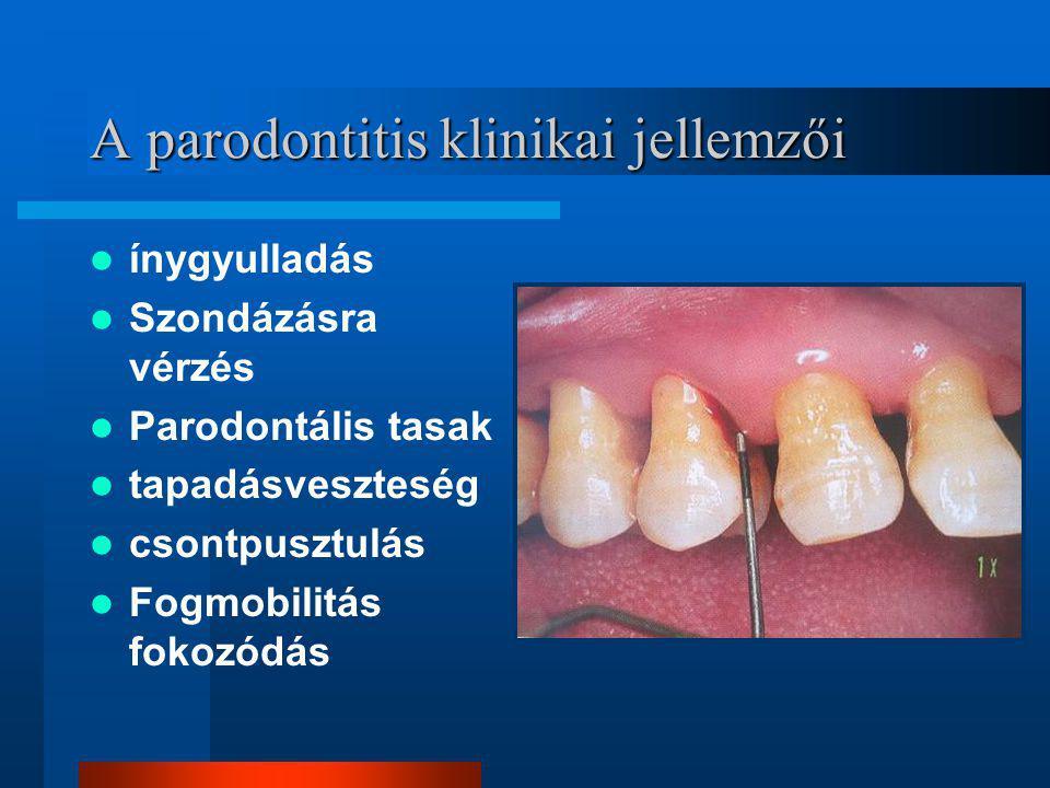 A parodontitis klinikai jellemzői