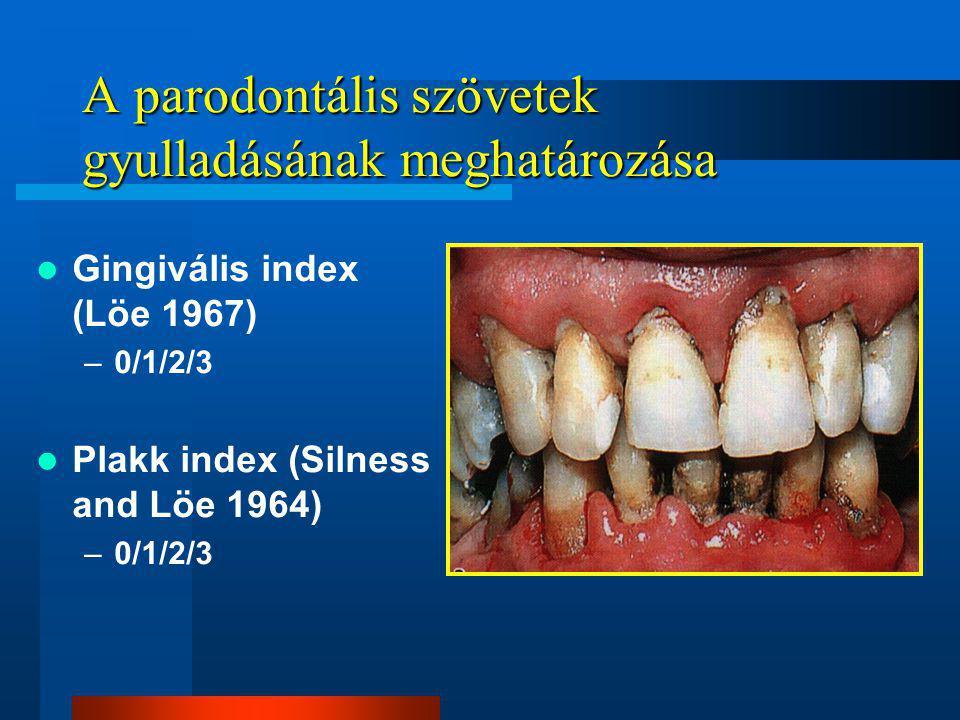 A parodontális szövetek gyulladásának meghatározása