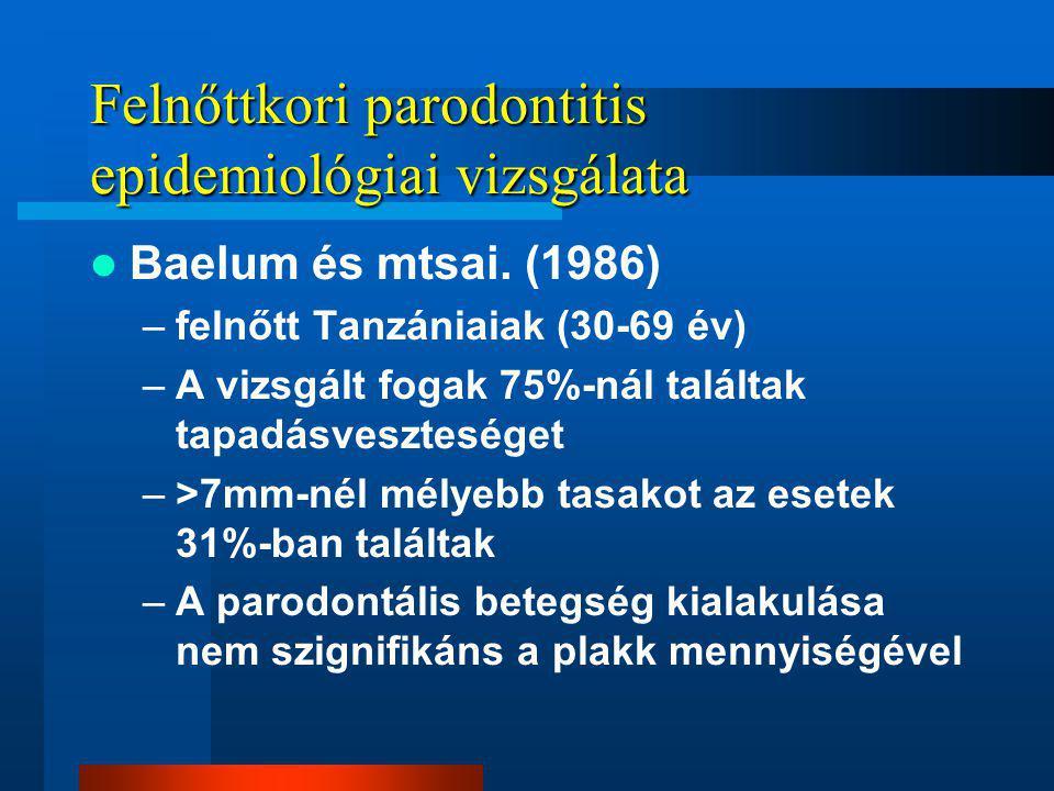 Felnőttkori parodontitis epidemiológiai vizsgálata
