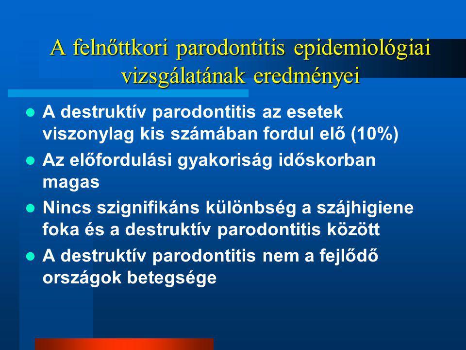 A felnőttkori parodontitis epidemiológiai vizsgálatának eredményei