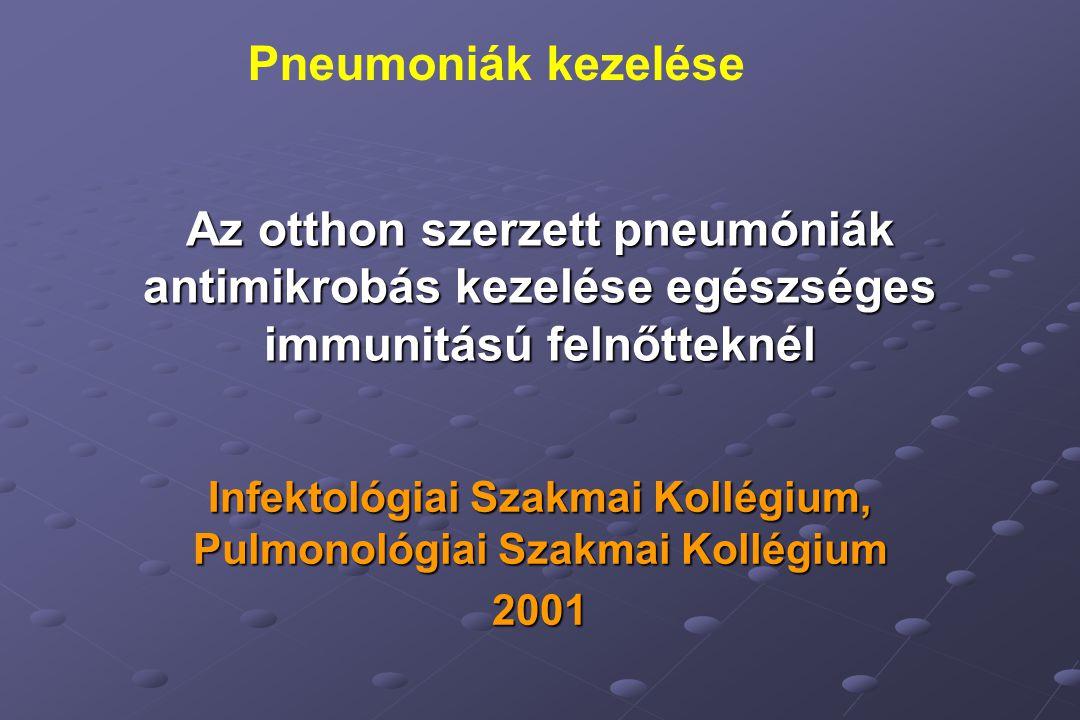 Infektológiai Szakmai Kollégium, Pulmonológiai Szakmai Kollégium 2001