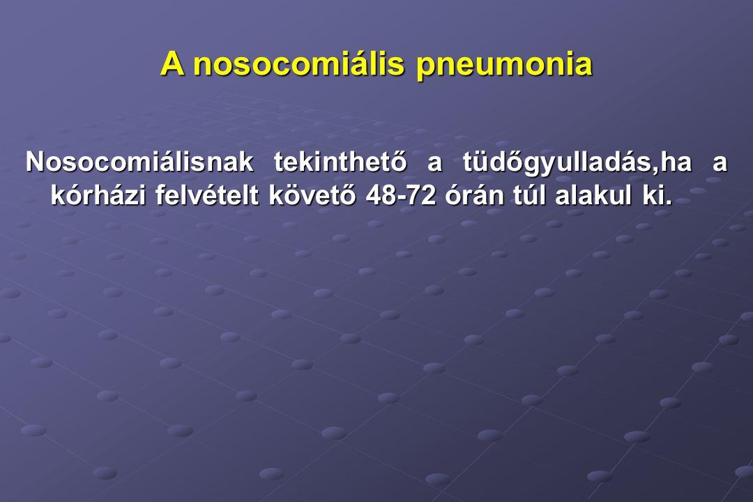 A nosocomiális pneumonia