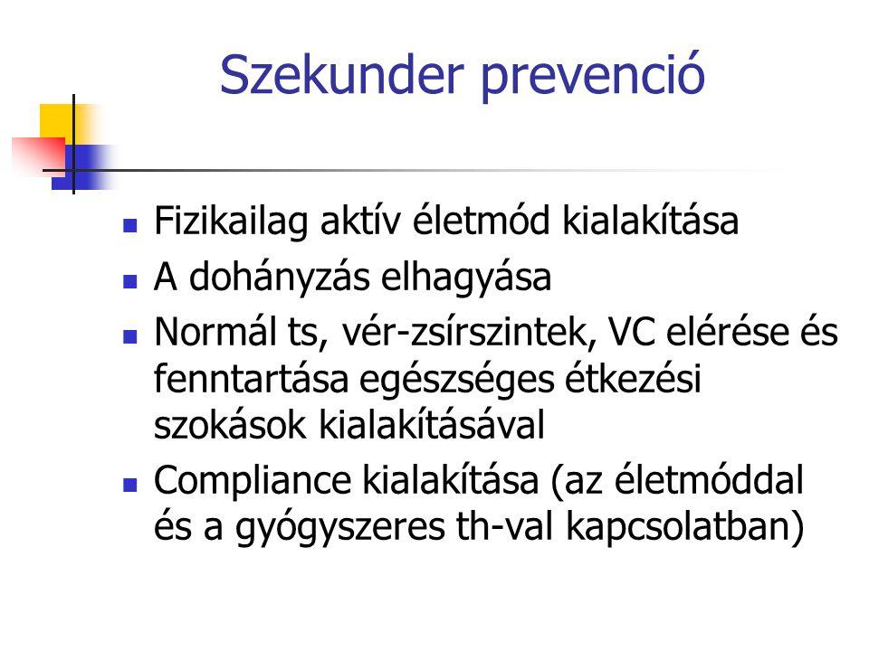 Szekunder prevenció Fizikailag aktív életmód kialakítása