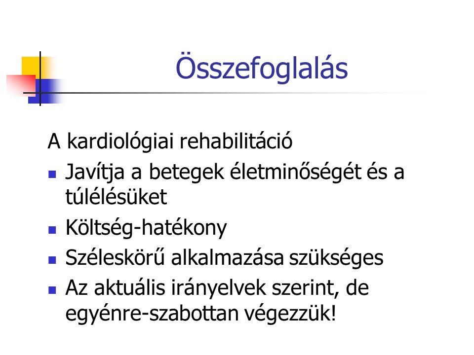 Összefoglalás A kardiológiai rehabilitáció