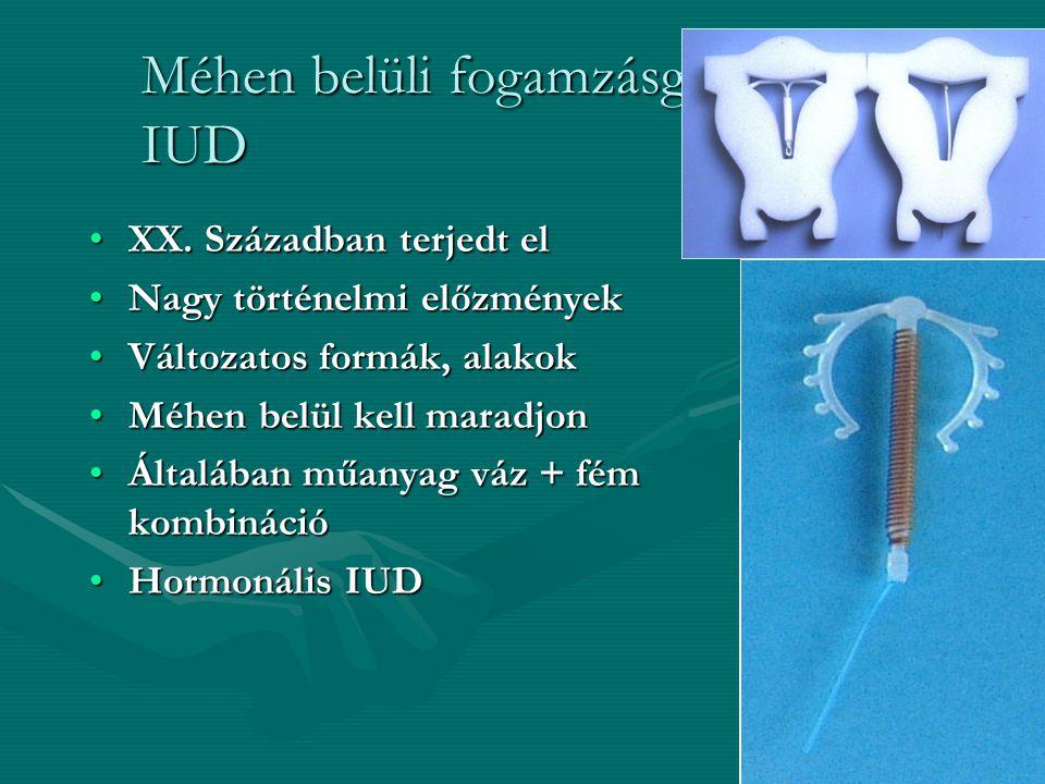 Méhen belüli fogamzásgátló eszköz- IUD
