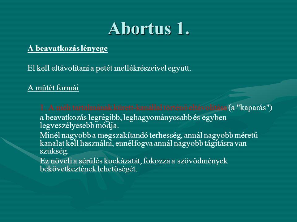 Abortus 1. A beavatkozás lényege