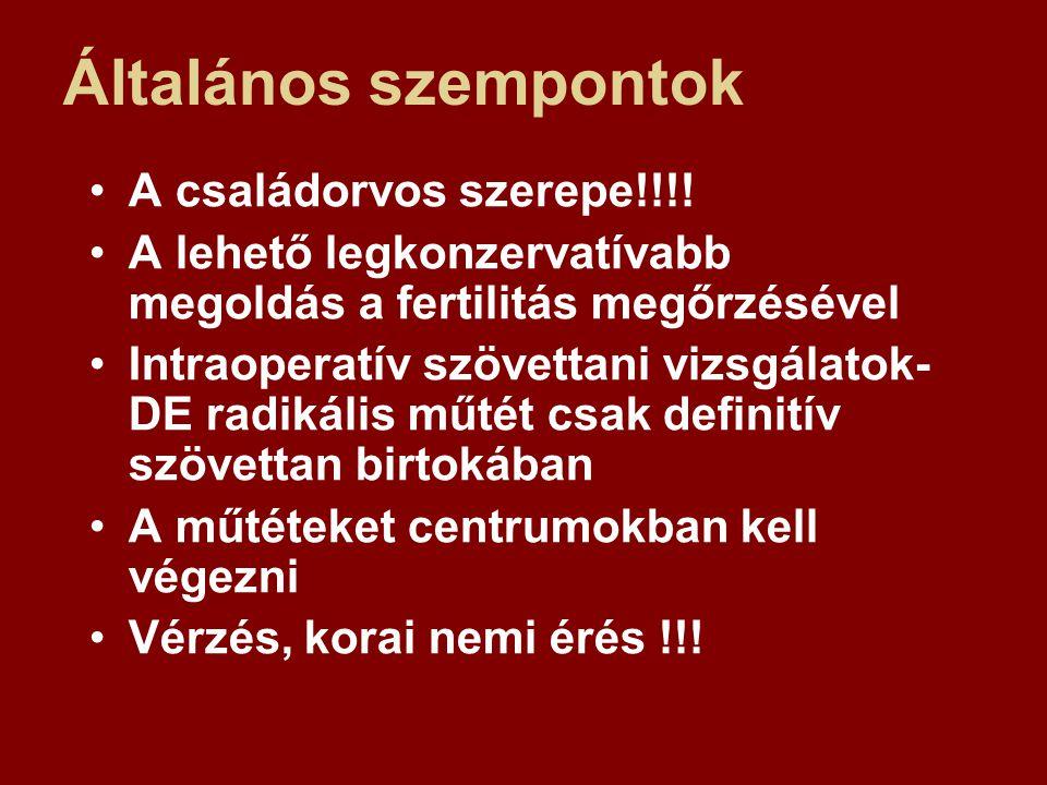 Általános szempontok A családorvos szerepe!!!!