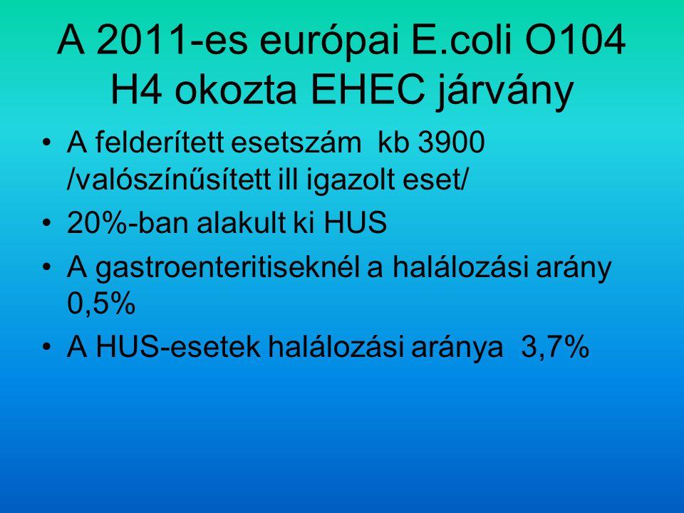 A 2011-es európai E.coli O104 H4 okozta EHEC járvány