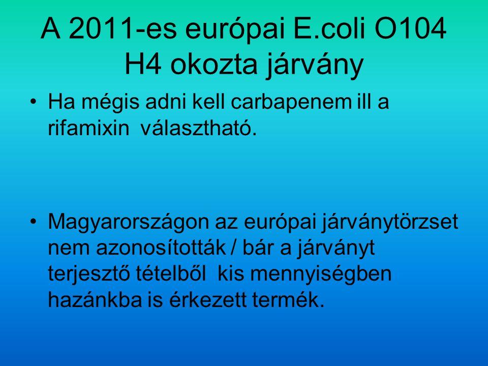 A 2011-es európai E.coli O104 H4 okozta járvány