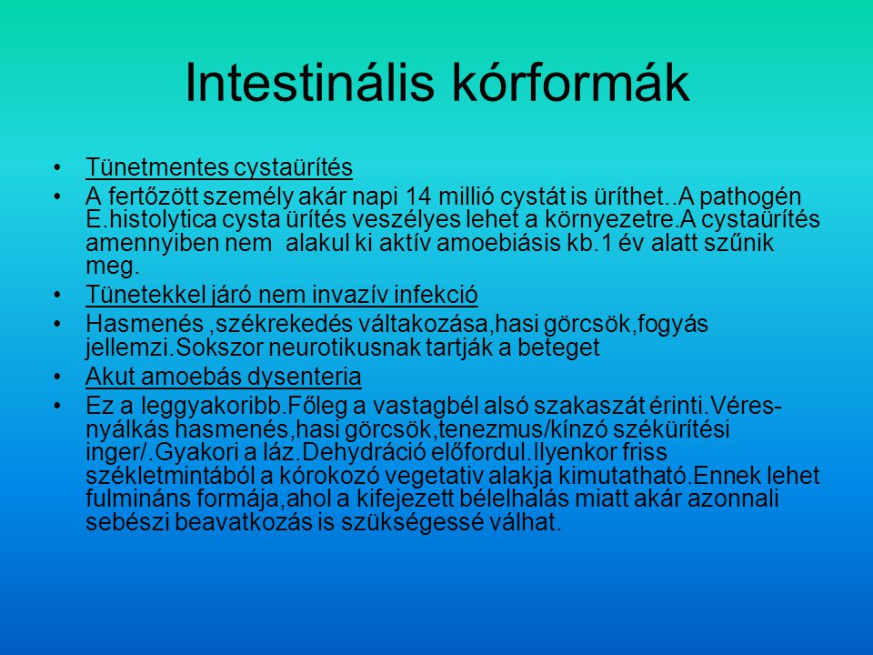 Intestinális kórformák