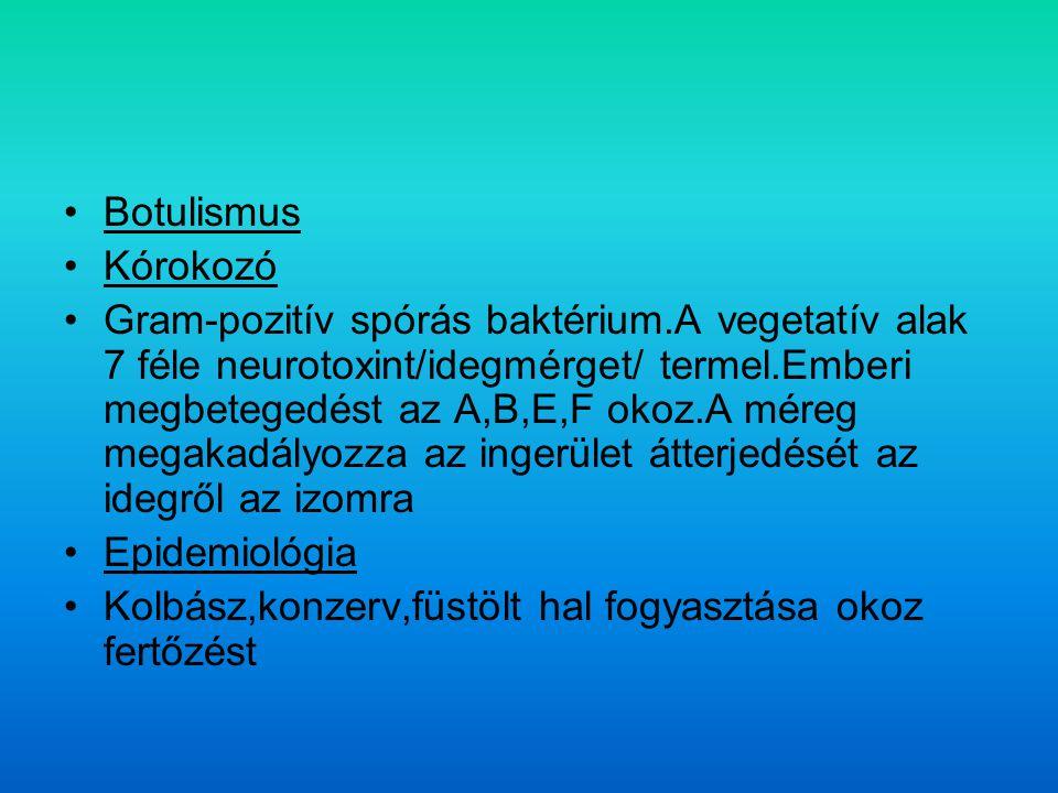 Botulismus Kórokozó.