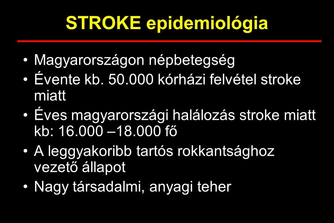 STROKE epidemiológia Magyarországon népbetegség