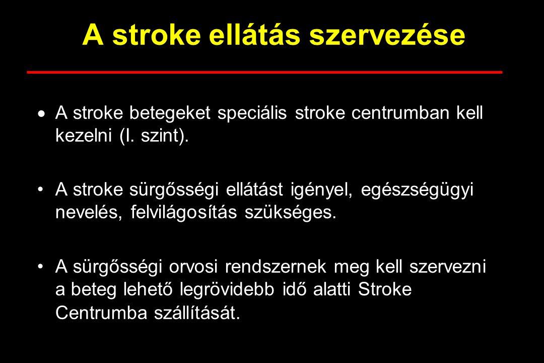 A stroke ellátás szervezése
