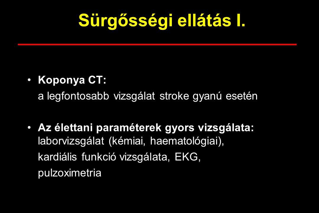 Sürgősségi ellátás I. Koponya CT: