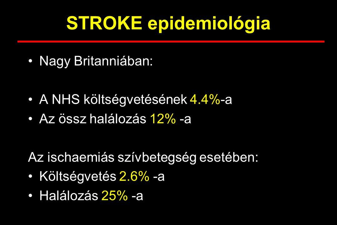 STROKE epidemiológia Nagy Britanniában: A NHS költségvetésének 4.4%-a