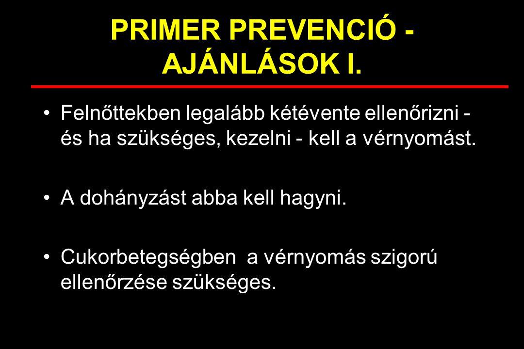 PRIMER PREVENCIÓ - AJÁNLÁSOK I.