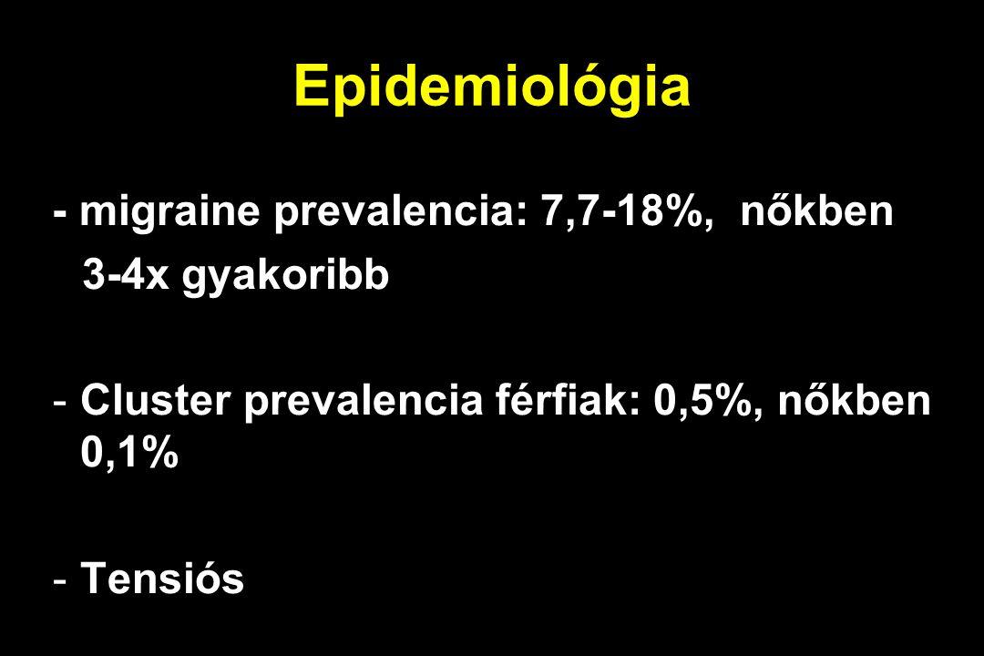 Epidemiológia 3-4x gyakoribb