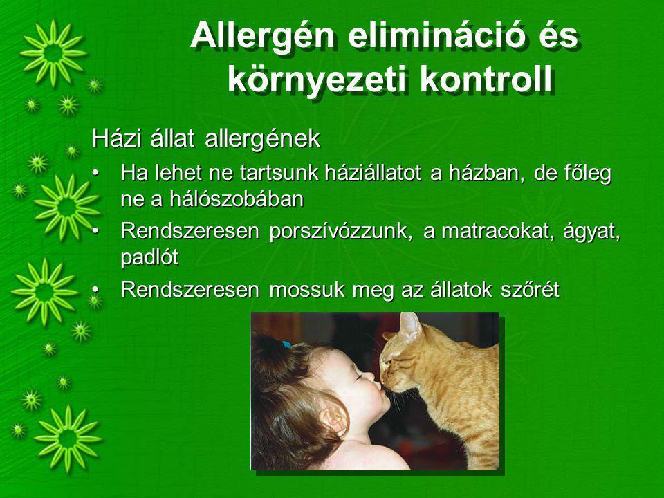 Allergén elimináció és környezeti kontroll