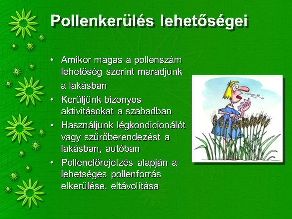 Pollenkerülés lehetőségei