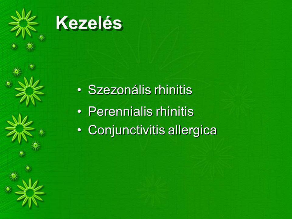 Kezelés Szezonális rhinitis Perennialis rhinitis